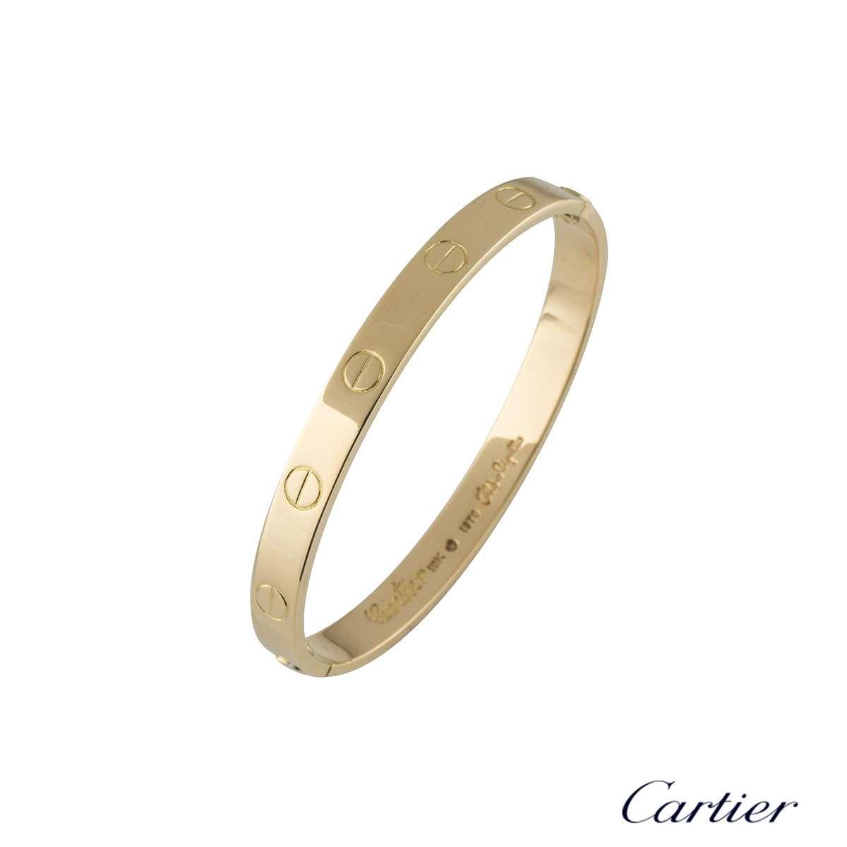 Cartier Love Aldo Cipullo Bracelet Size 16